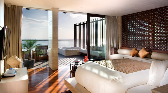 A Penthouse Ocean View at the Anantara Seminyak resort in Bali