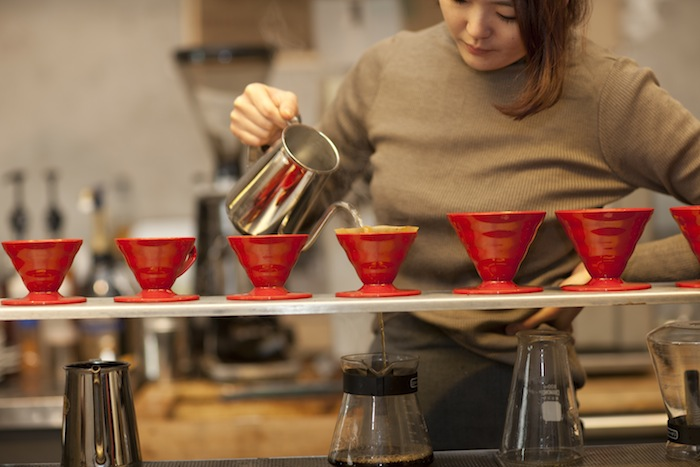 Anthracite coffee is a mainstay of the Hongdae neighborhood.