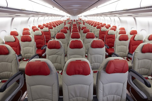 The economy class of AirAsia X.