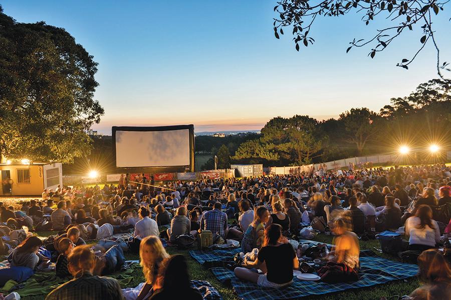 A Moonlight Cinema showing in Centennial Park.