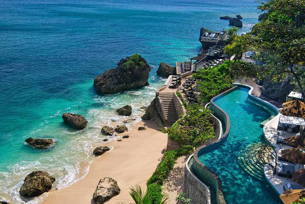 The Ayana's dreamy Ocean Pool.