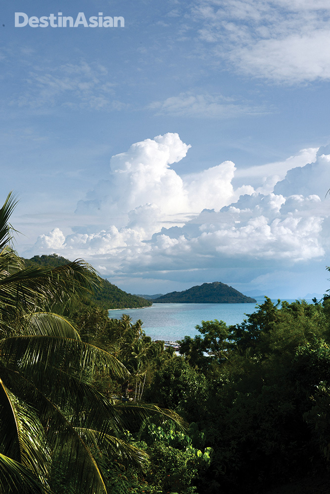 Overlooking the Taling Ngam area on Koh Samui's sedate west coast.