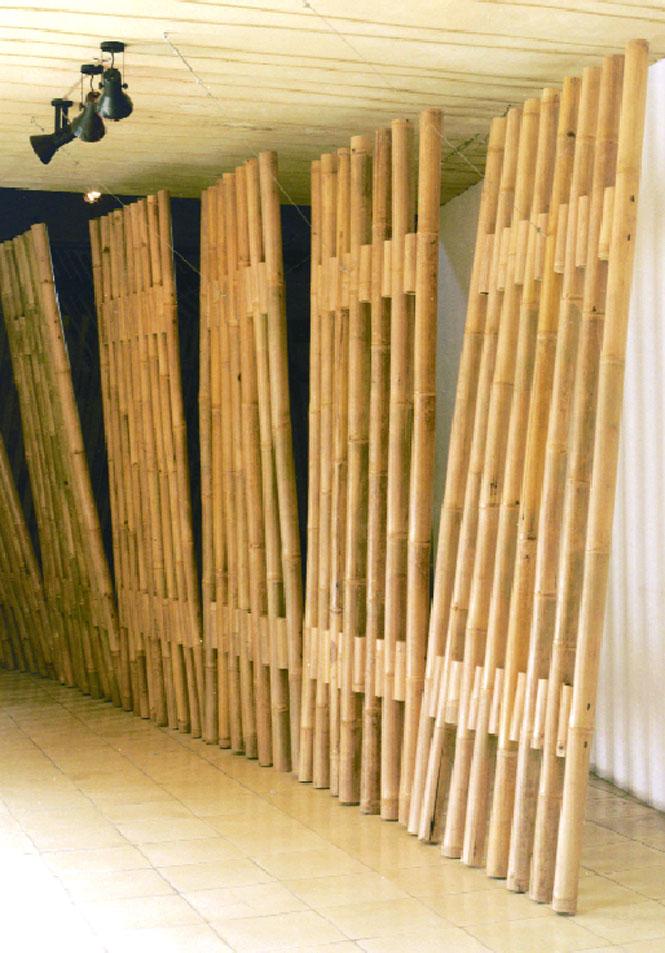 A bamboo installation by Eko Prawoto at Cemeti Art House.