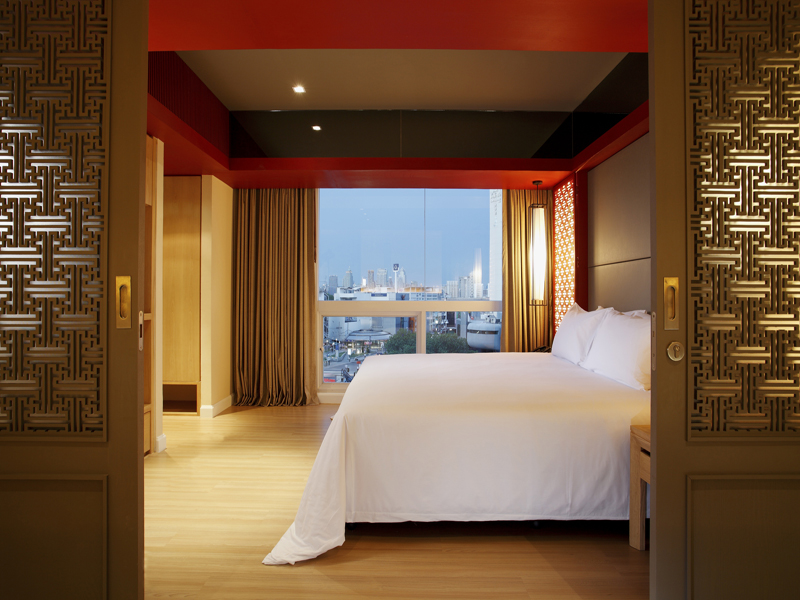 Accommodations for two at the Centra Bangkok.