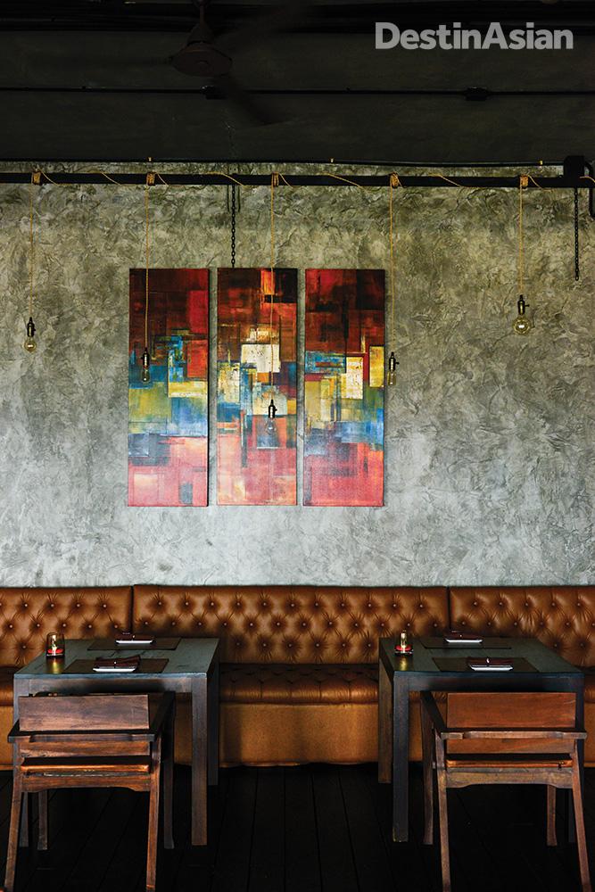 Inside Barrauda restaurant at The Wharf.