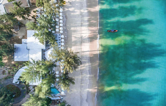 A bird's-eye view of Catch Beach Club, at the southern end of Bangtao Beach. Photo courtesy of the club.