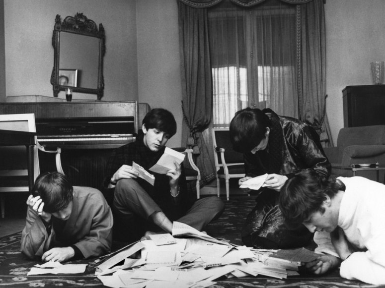 'A large bag of fan mail was delivered to their suite in the George V each day and the Beatles would actually sit down and read the letters and look at the photographs the girls had enclosed,' recalls Benson.