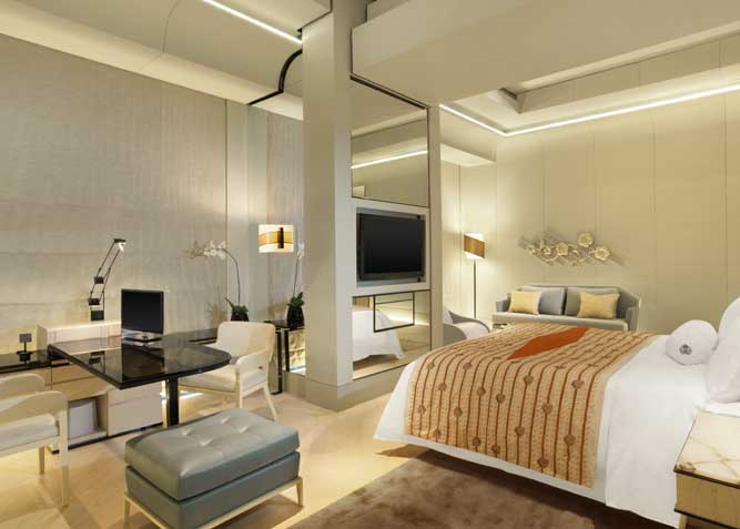 A guest room in a Grand Deluxe Suite.