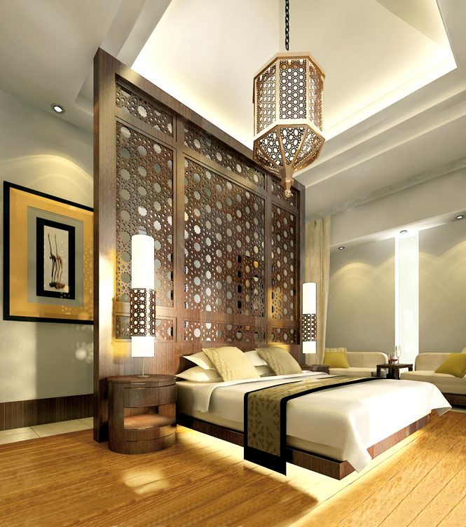 A suite at the Banyan Tree Al Wadi.