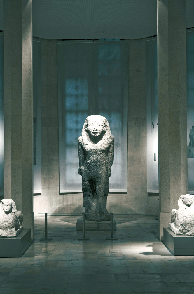 the small but impressive collection at the National Museum of Beirut includes ancient Egyptian statuary.