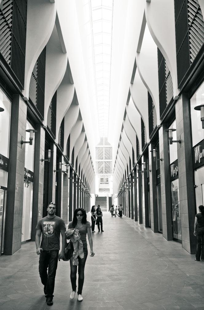 The city's rebuilt downtown souk.