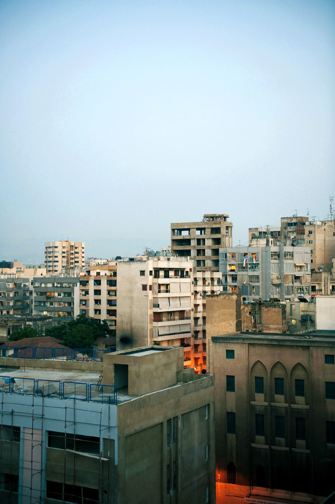 Twilight over Achrafieh, an old hilltop quarter in eastern Beirut.