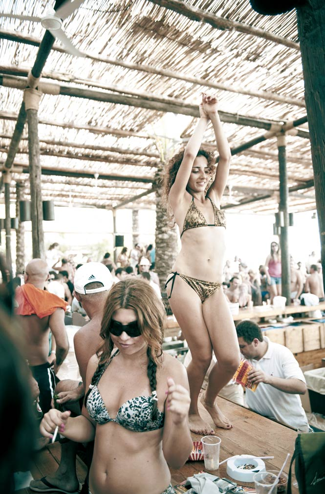 the Mediterranean beach clubs around Byblos, a historic port town up the coast from the Lebanese capital, are a summertime playground for Beirut's party set.