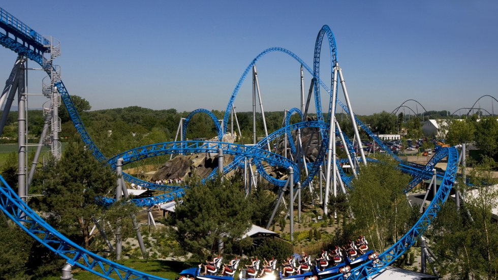 One of the thrilling roller coasters at Europa Park.