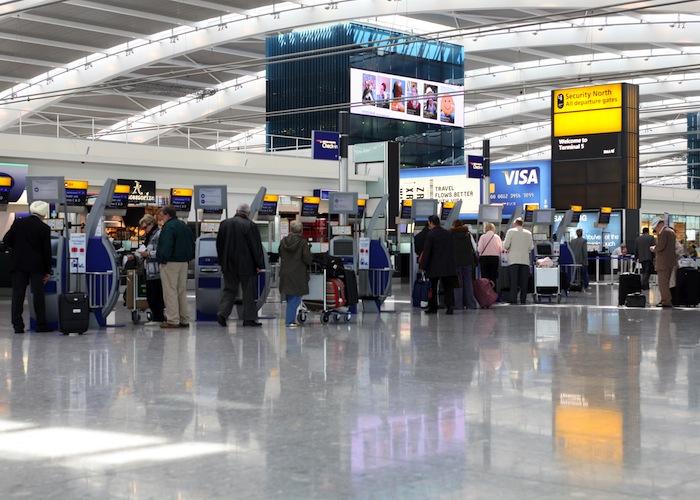 Terminal 5 check-in area.