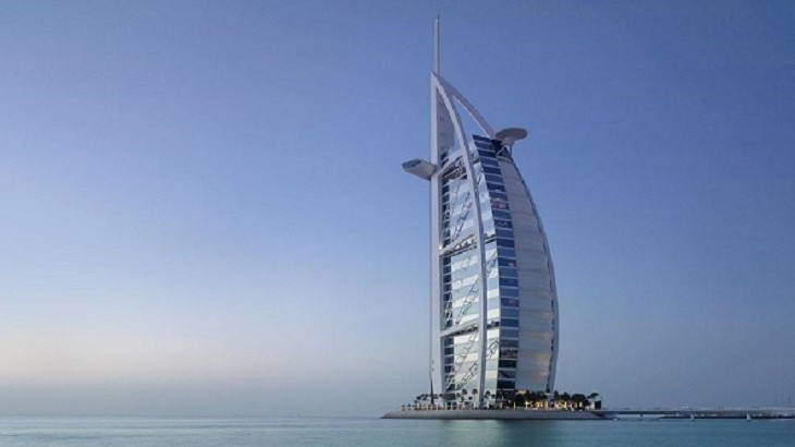 The self-proclaimed most luxurious hotel in the world is built on its own artificial island.