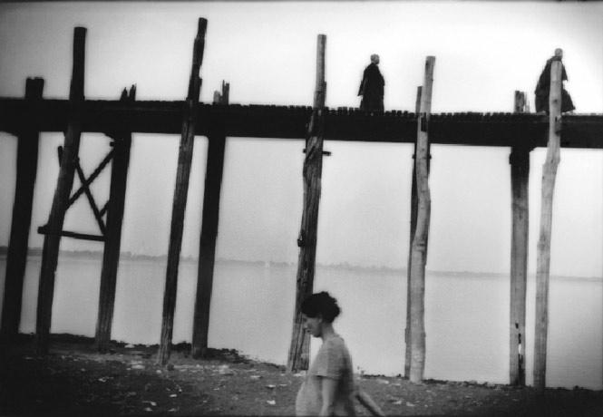 The 19th-century U Bein's Bridge in Amarapura, south of Mandalay, is the longest teak bridge in the world.