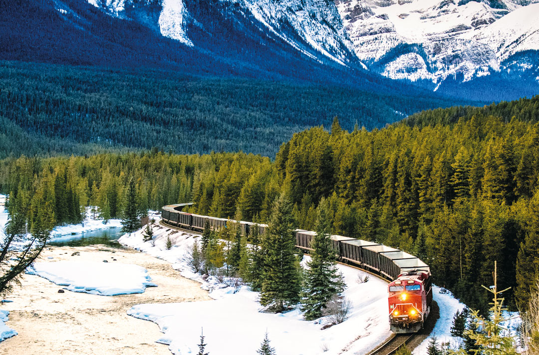 Traversing the Banff National Park on the Canadian Pacific Railway.