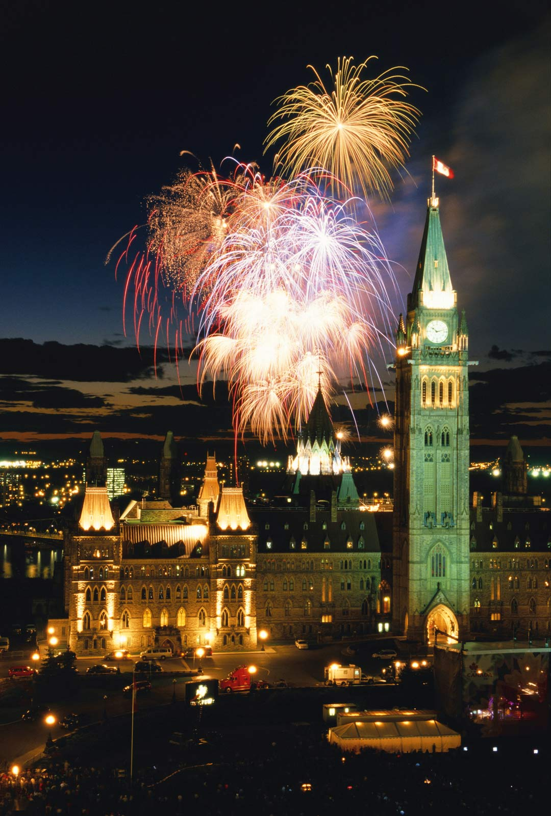 Canada Day celebrations on Ottawa's Parliament Hill.
