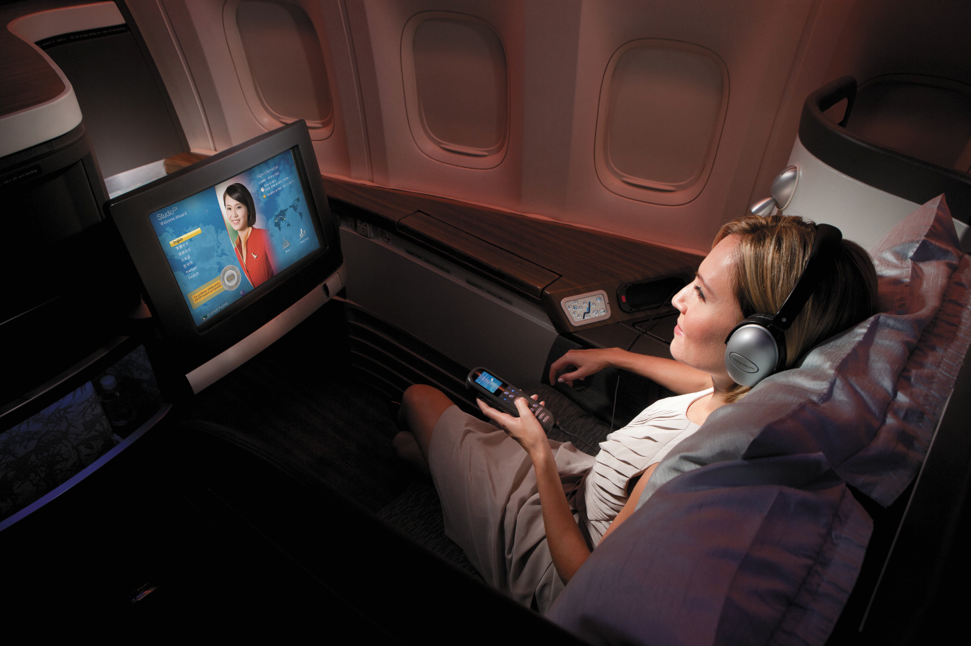 A Boeing 777 equipped with four classes of service will fly the route.