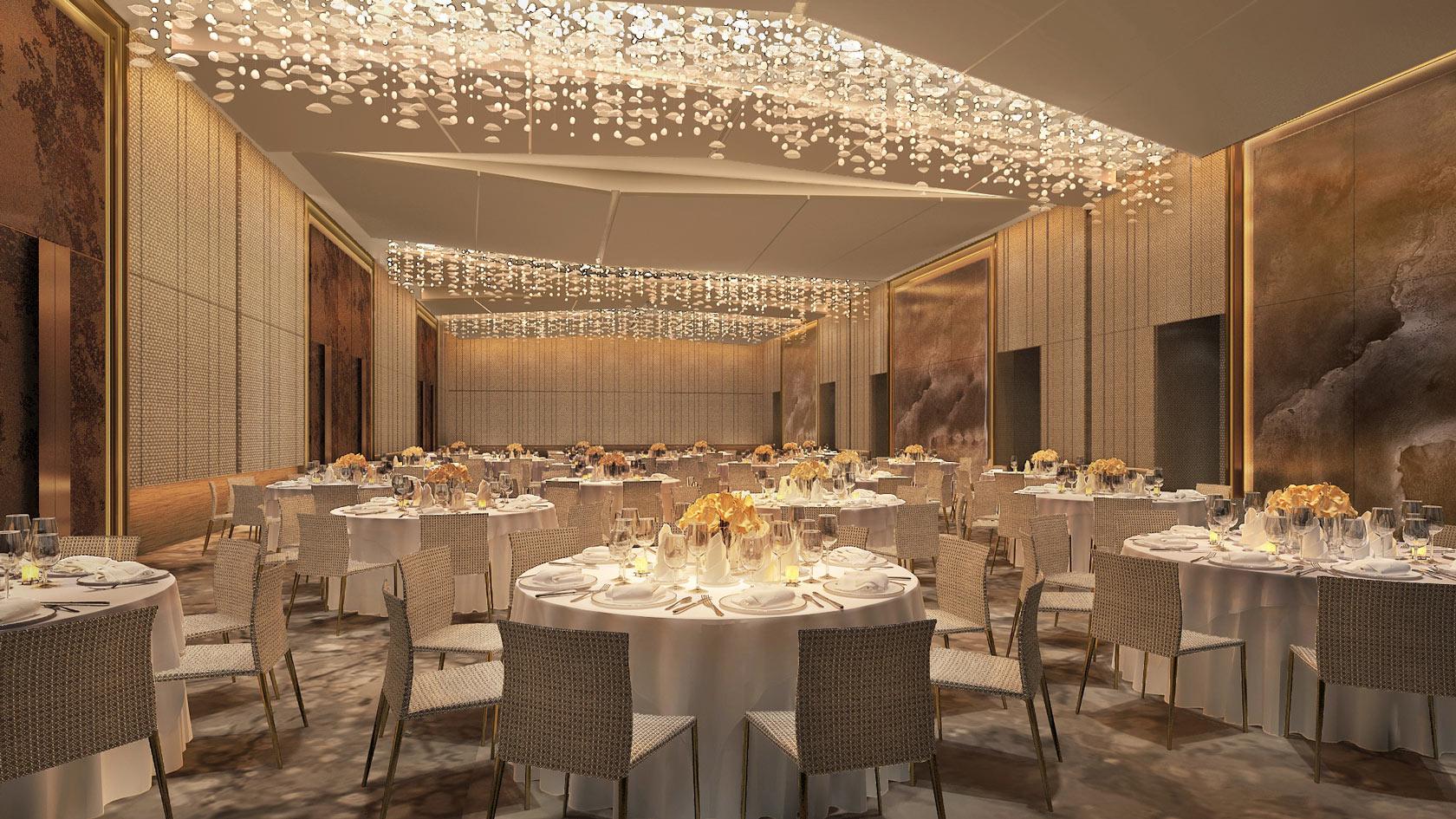 The hotel's grand ballroom