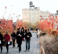 Strolling on the High Line.