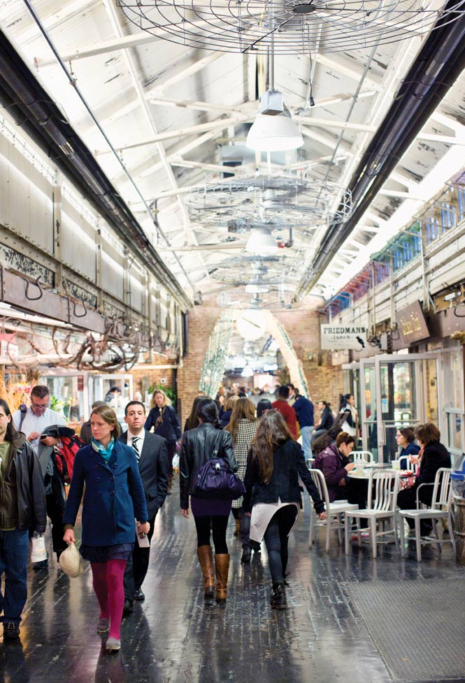The shops and restaurants of Chelsea Market occupy a historic biscuit factory.