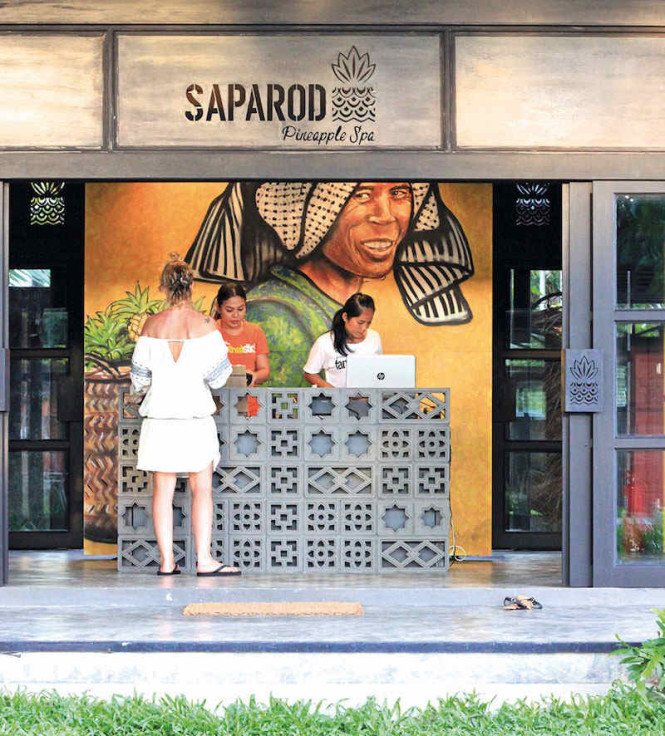 The entrance to Project Artisan's Saparod Pineapple Spa. All photos courtesy of the places mentioned.