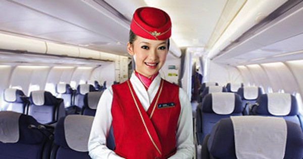 A China Southern Airlines flight attendant.