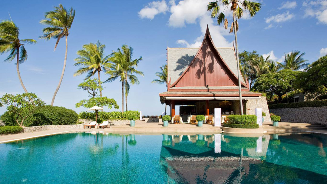 Poolside at Chiva-Som in Hua Hin.