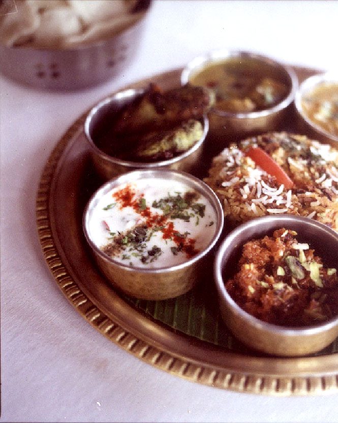 A selection of chutnies andcurries at Ooty's Savoy hotel.