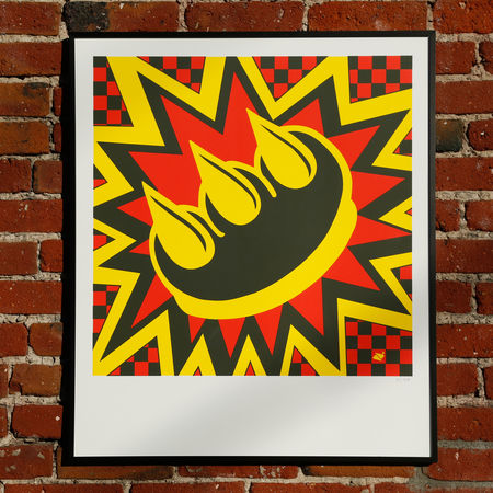 A print by street artist Claw Money is available at the Andaz Holiday Bazaar.