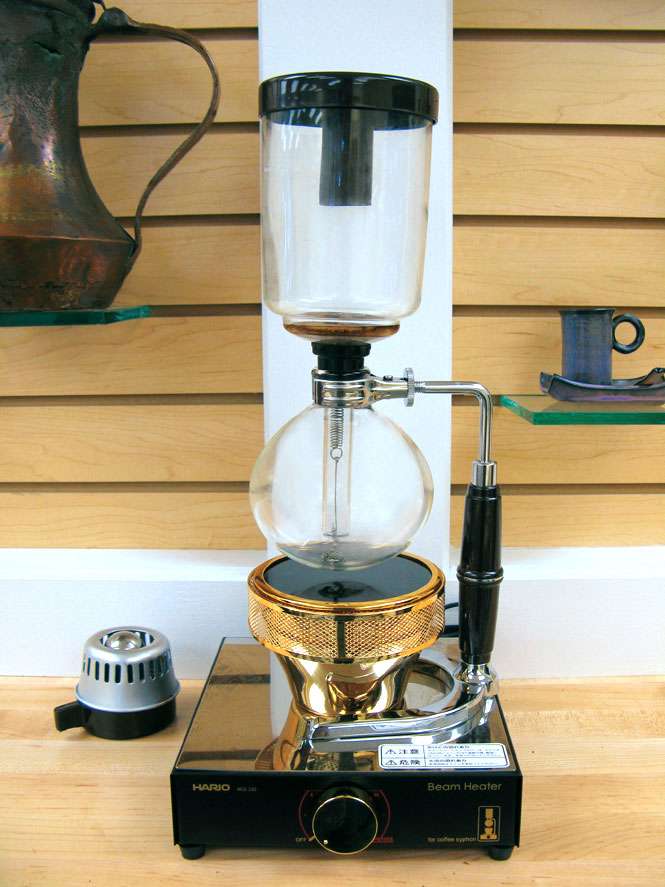A Japanese coffee siphon.