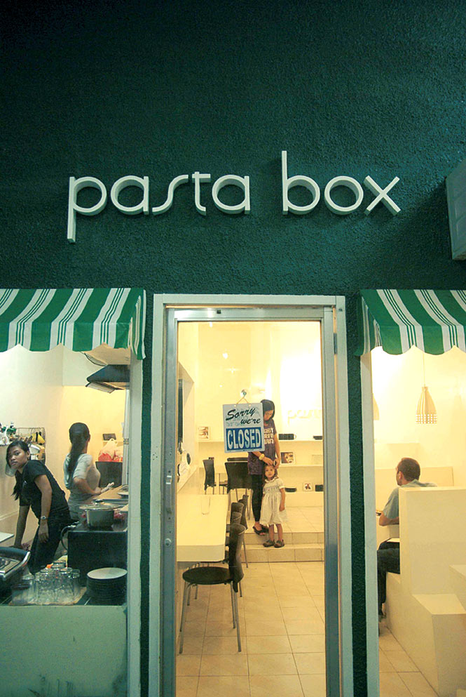 Pasta Box, one of several casual eateries at The Collective.