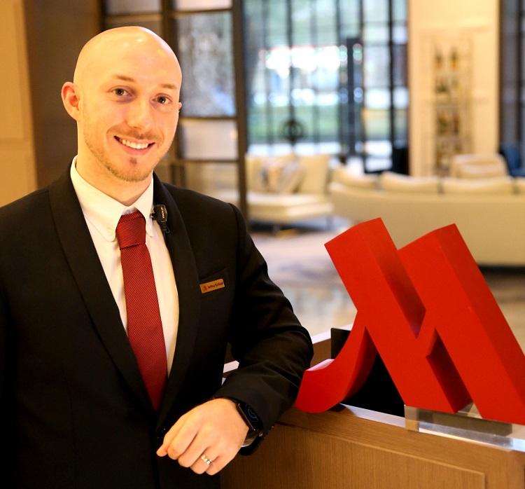 Marriott Taipei's guest relations manager, Joshua Kirkland.