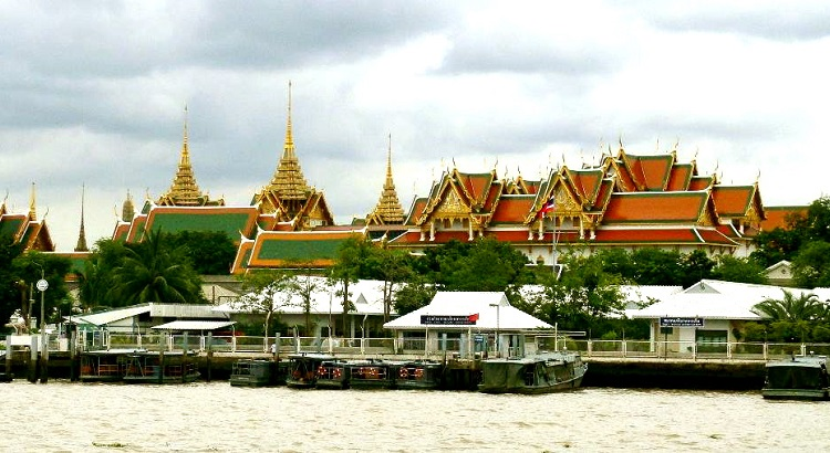 The Grand Palace, seen from across the river.