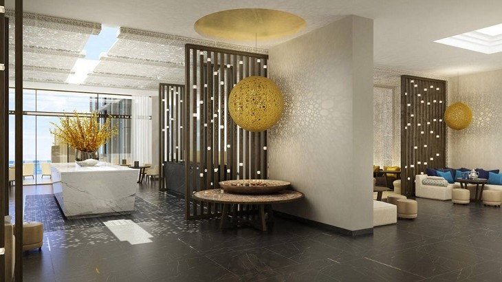 The Four Seasons Hotel Casablanca is fashioned with a blend of contemporary design and Moroccan inspirations.