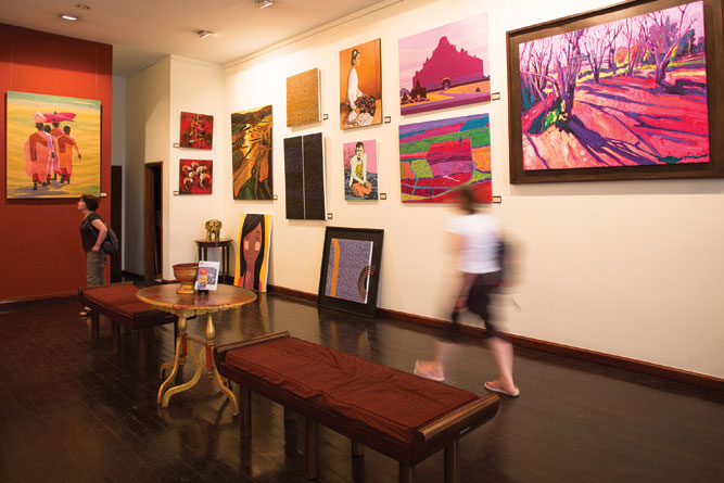 The River gallery sells pieces by some of Myanmar's best-known contemporary artists.