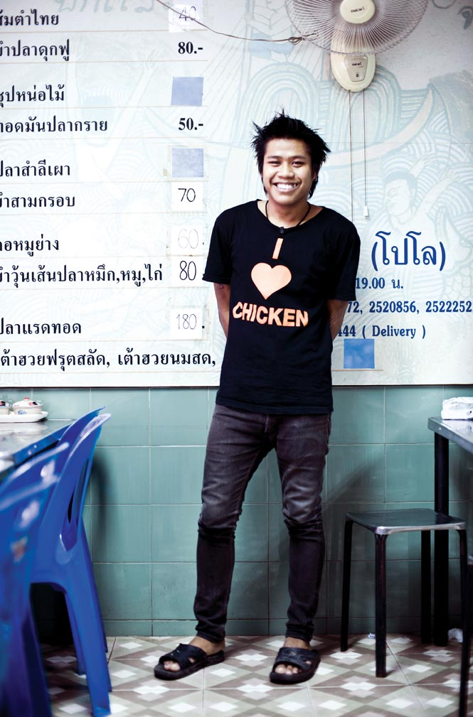 Service with a smile at Polo Fried Chicken, the city's beloved purveyor of Isan-style fried chicken.
