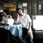 David Thompson, Nahm's Australian chef, on one of his a forays to Nang Lern Market.