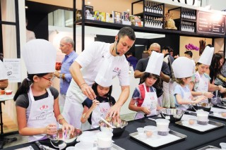 The Junior Pastry Academy master-class for young chefs held by db Bistro at last year's Epicurean Market.