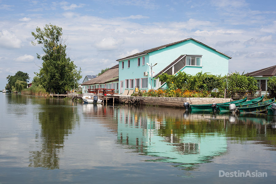 Modern guesthouses like this one, located midway along the channel between Crisan and the Sfantu Gheorghe, have sprung up in the delta to cater to the region's growing ecotourism business.