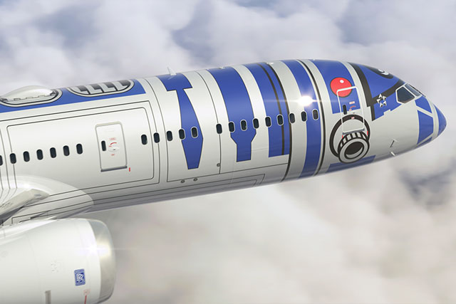This marks the first time a Star Wars character will appear on the exterior of a commercial aircraft.