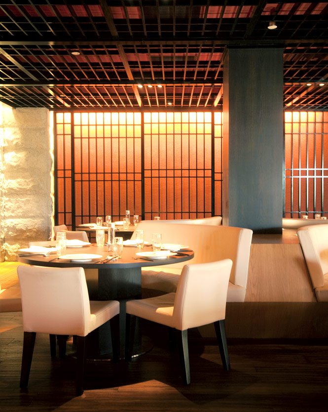 The dining room at Chinois by Susur Lee.