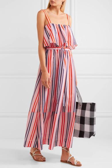 Diane Von Furstenberg's Striped cotton and silk-blend maxi dress.