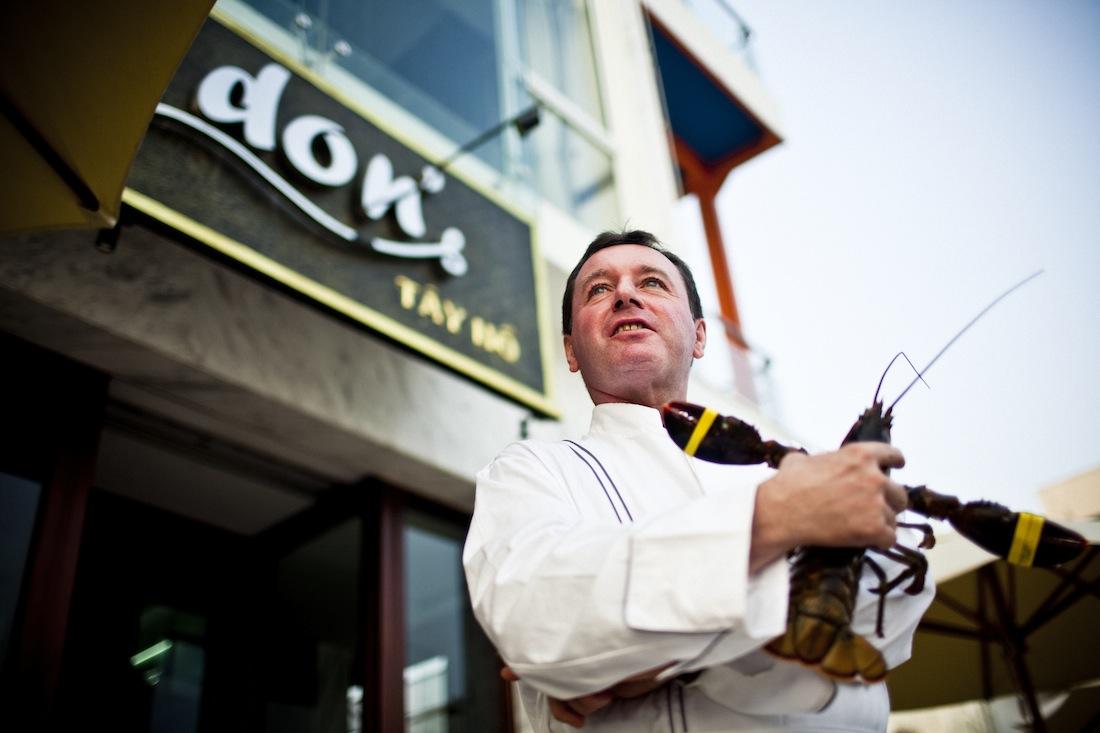 Chef Donald Berger at his namesake restaurant.