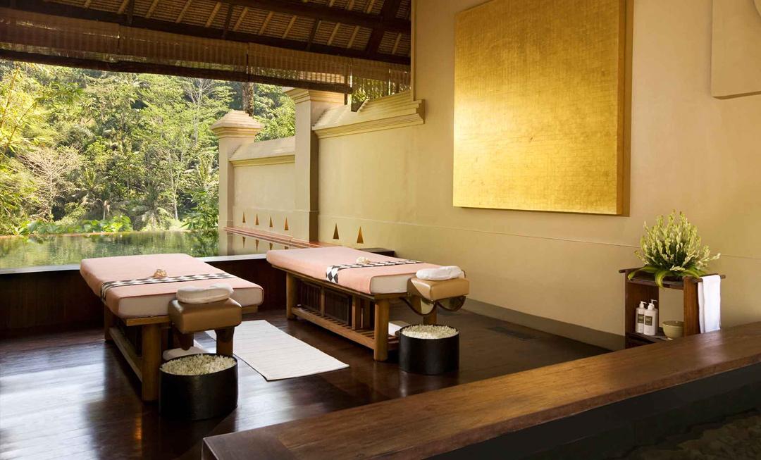 Inside the Ayung Relaxation Villa at Royal Kirana Spa.