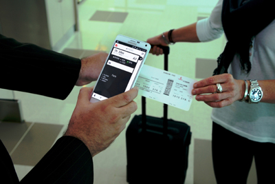 Emirates' new mobile application provides check-in ease.