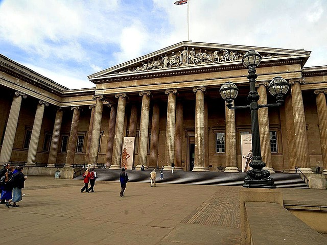 Exterior of the British Museum.