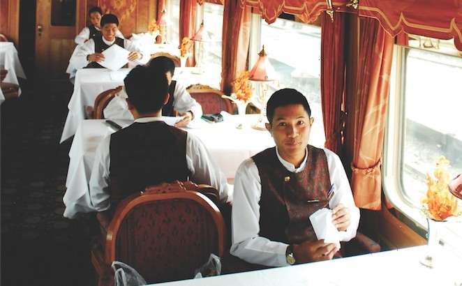 Thailand travel: Luxury rail, dinnertime